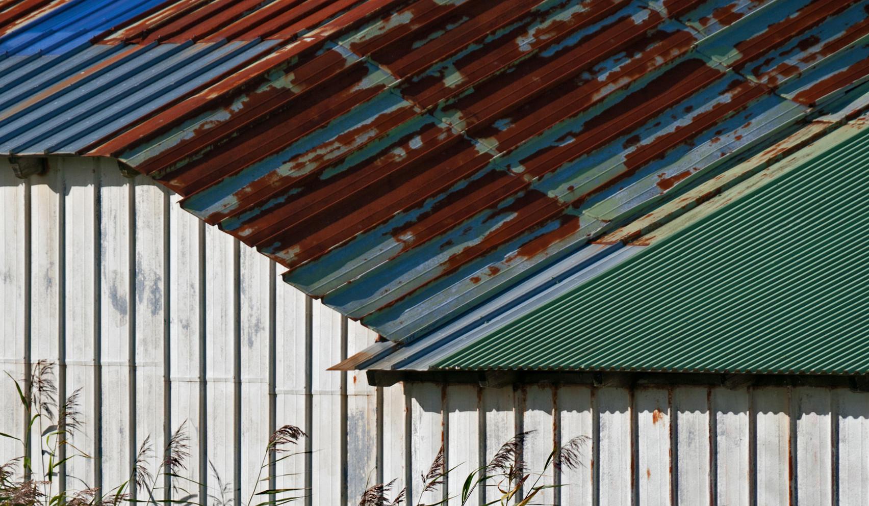 Linien, Dächer, Materialien