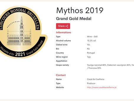 Casal da Coelheira conquista medalha de ouro no Concours Mondial de Bruxelles 2021