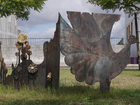 | Pormenores no Parque do Alto de Santo António