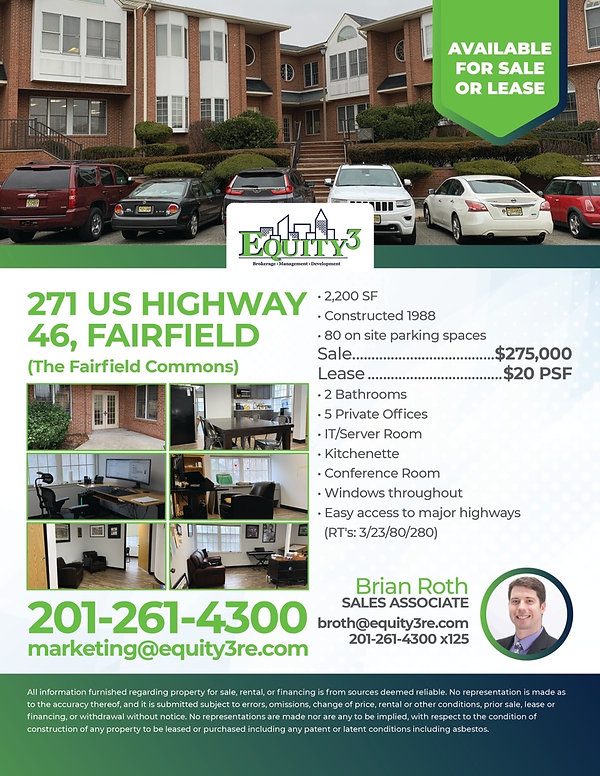 Marketing Flyer US Highway 46 Sale & Lea