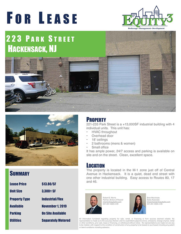 223 Park St. Marketing Flyer July 2019 2