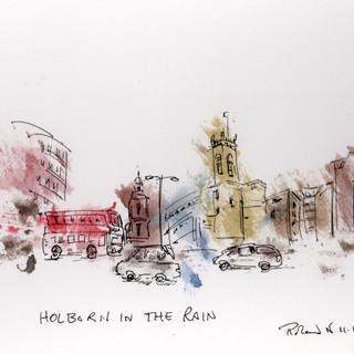 Holborn in the rain