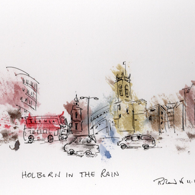 Holborn in the rain