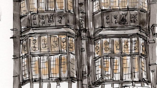 Lon010 Tudor Building in Holborn