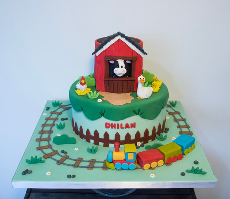 Farm Train cake.