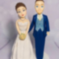 Bride and Groom cake topper for classes and wedding cakes.