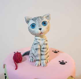 Handmade bespoke sugar cat