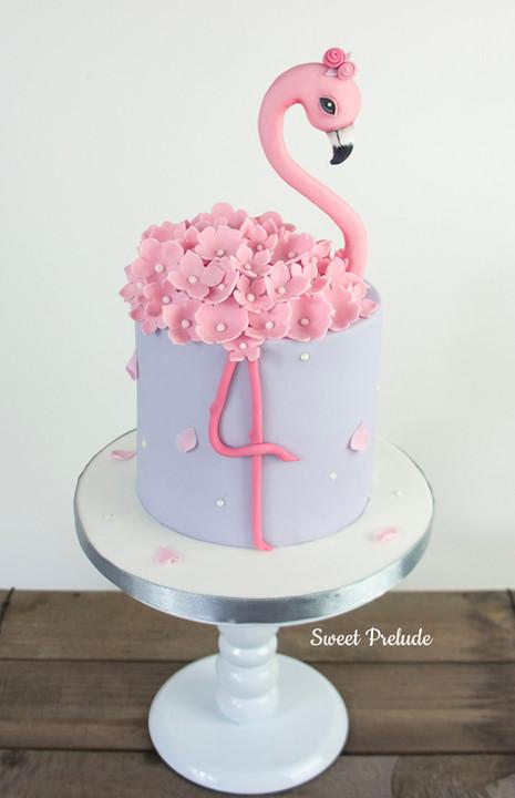 Bespoke Flamingo cake