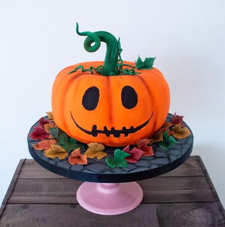 Carved Pumpkin cake