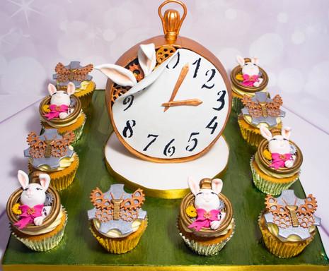 Bespoke decorated cupcake board.