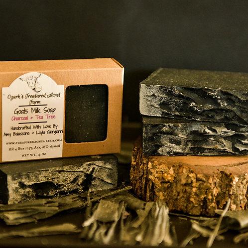 Charcoal & Tea Tree Goats Milk Soap
