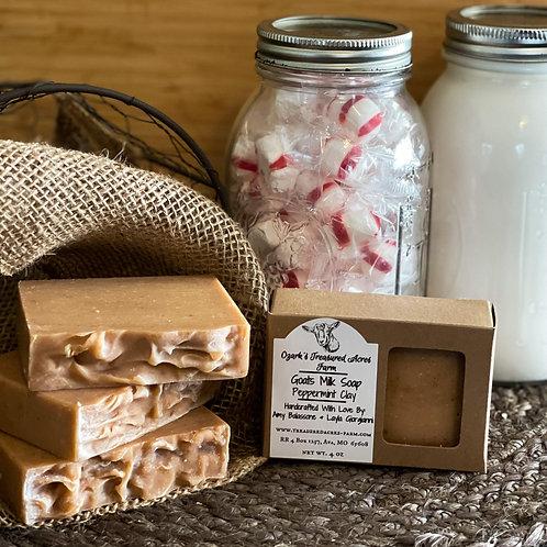 Peppermint Clay Goats Milk Soap