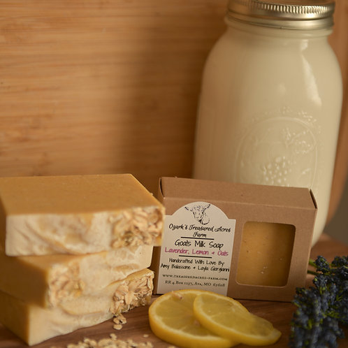 Lavender, Lemon & Oats Goats Milk Soap