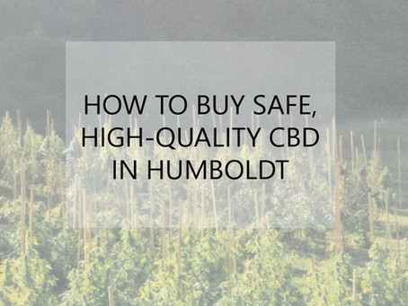 How to buy safe, high-quality CBD in Humboldt County
