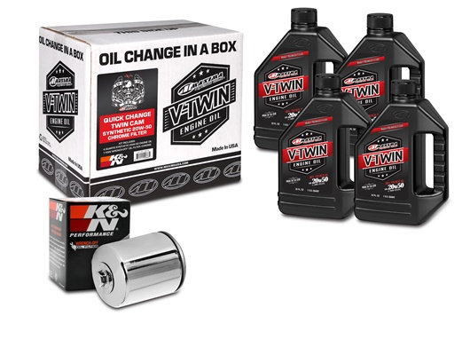 Quick Change Twin Cam Synthetic 20W-50 Chrome Filter Kit (90-119015C)