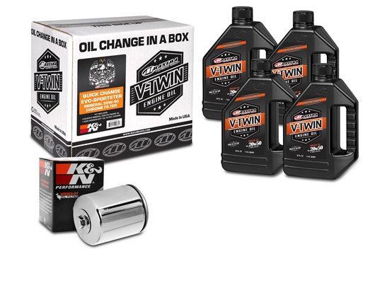 Quick Change Evo-Sportster Mineral 20W-50 Chrome Filter Kit (90-069014C)
