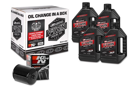 Quick Change Twin Cam Synthetic 20W-50 Black Filter Kit (90-119014B)