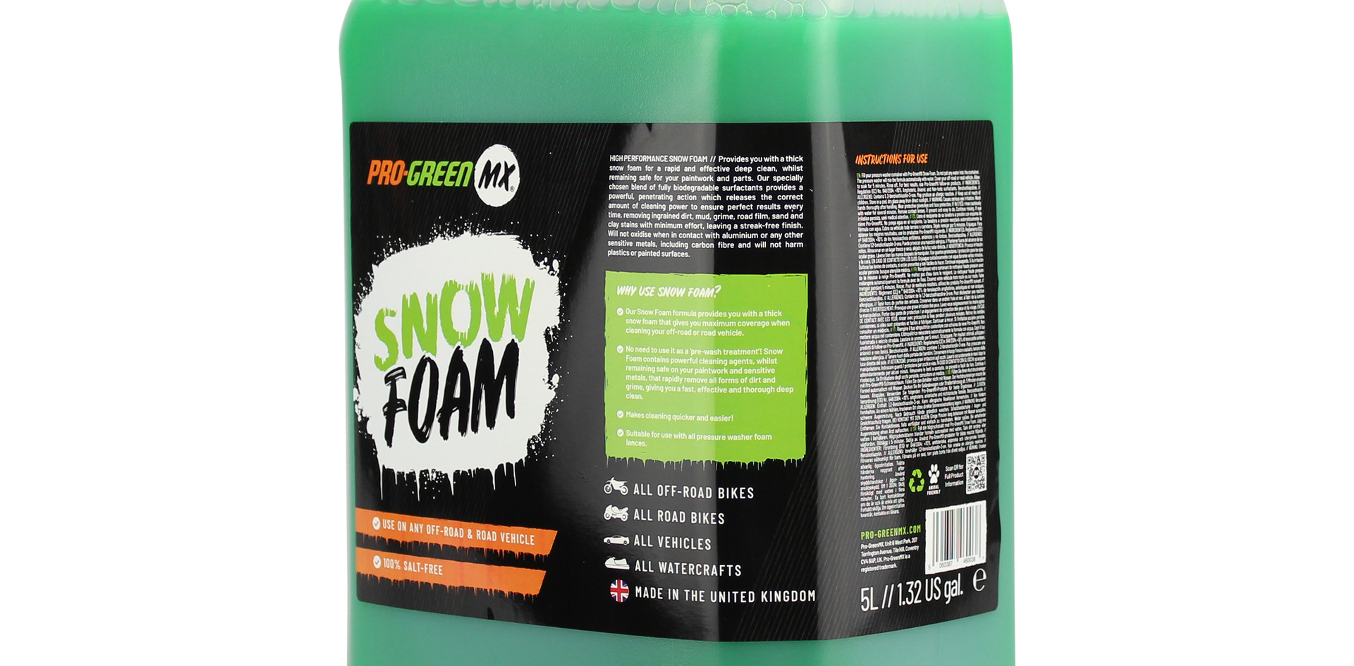 PRO GREEN MX SNOW FOAM CONCENTRATED 5L