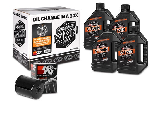 Quick Change Evo-Sportster Mineral 20W-50 Black Filter Kit (90-069014B)