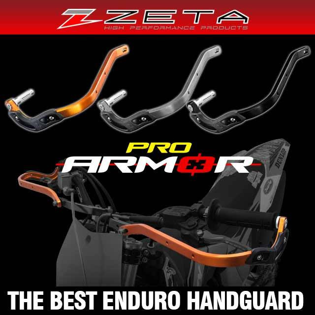 The best hand guards for extreme Enduro racing use. Comes with side plastic bumpers and durable bar end fittings. Available KTM orange, titanium and black colors.