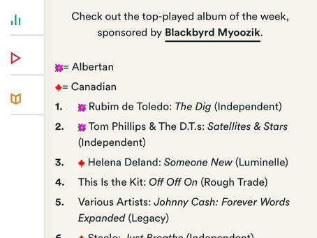 The Dig #1 on CKUA and CJSR Charts