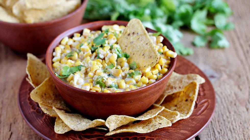 Mexican Corn Elote Casserole