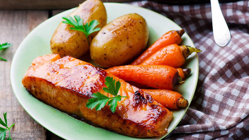 Honey Maple Grilled Salmon