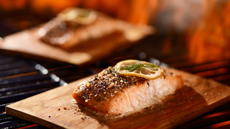 Honey Dijon Maple Cedar Plank Salmon