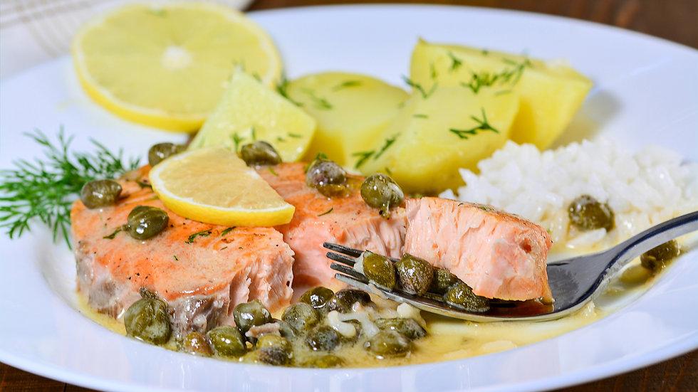 Lemon Salmon Piccata