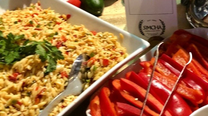 Orzo Pasta with Confetti of Bell Peppers