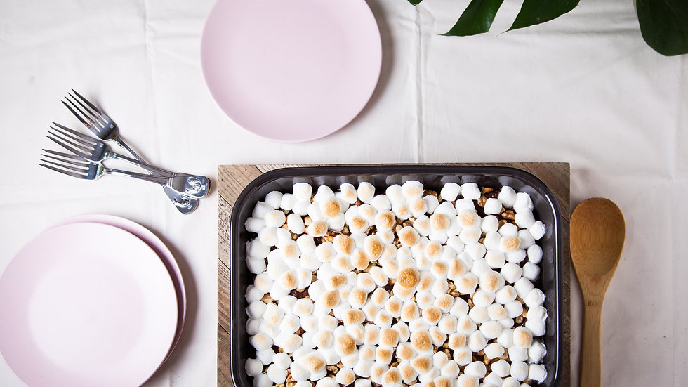 Marshmallow Brownie Pie