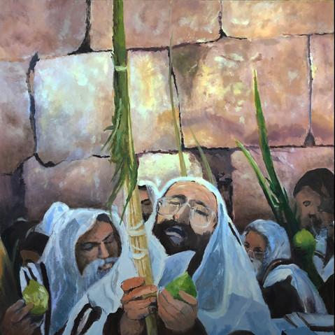 P1 – Lulav Blessing at the Wailing Wall