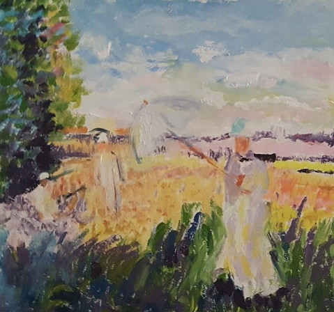 P53 – Woman with Umbrella, inspired by Monet