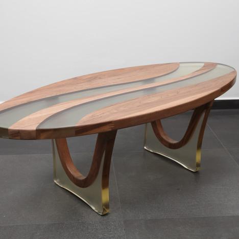 שולחן סלון טונוס ואגוז