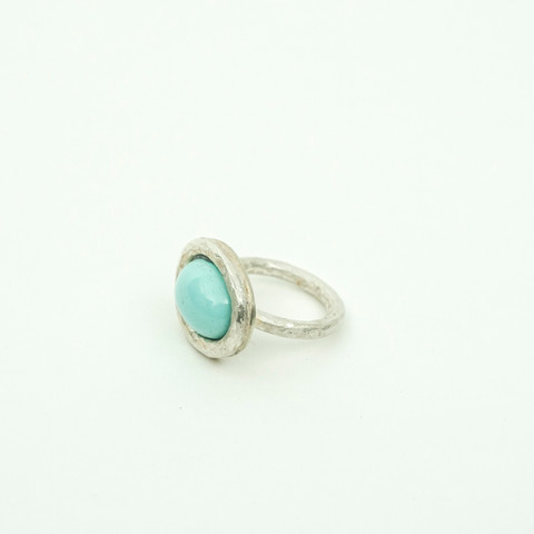J34 – Hand made ring with turquoise gem stone  $220