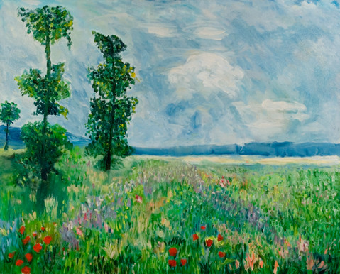 P33 – Field of Flowers, inspired by Monet