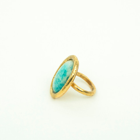 J33 – Hand made ring with turquoise gem stone  $240