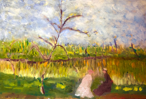 P9 – Landscape of two Maidens, inspired by Monet