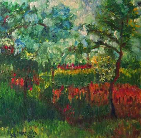 P12 – Landscape, inspired by Pissaro