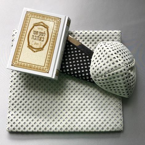Set of kipa & tallit bag -TA4