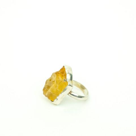 J36 – Hand made ring with Citrine quartz gemstone  $140