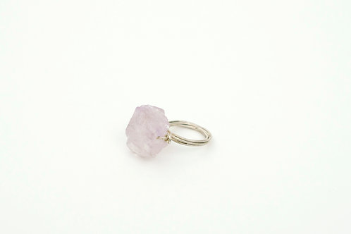 J35 – Hand made ring with natural amethyst gemstone