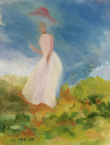 P5– Girl in Nature, inspired by Monet