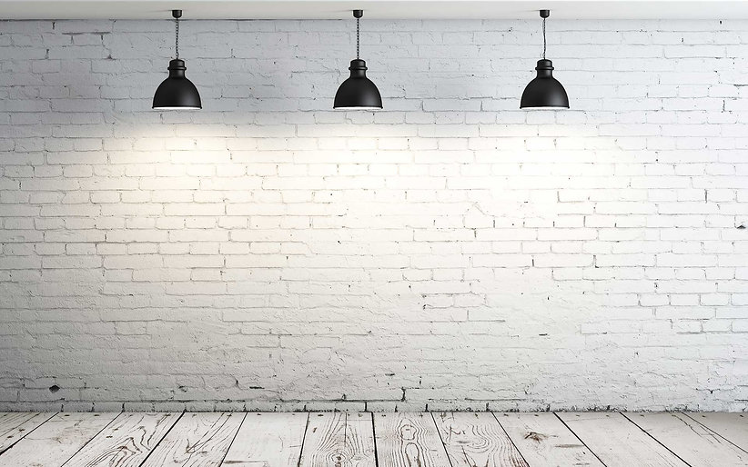 White Brick Wall Black Lamps.jpg