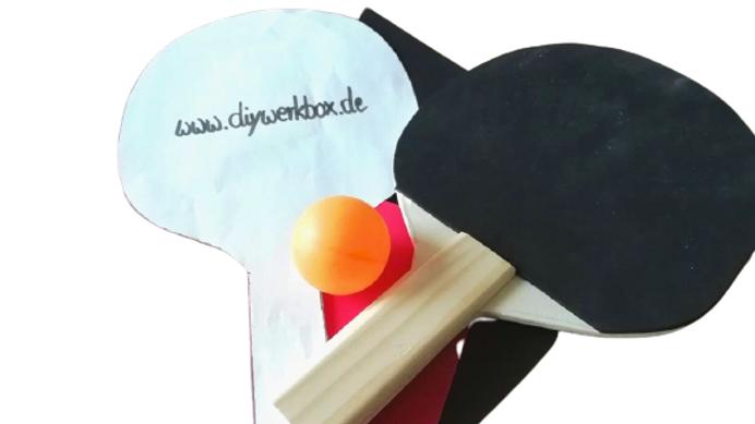 """Diy-Werkbox Mini """"Tischtenniskelle selber bauen"""""""