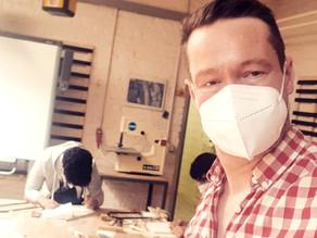 Juchuu, endlich wieder mit Jugendlichen in einer Werkstatt.