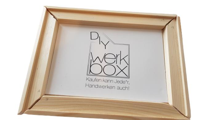 """Diy-Werkbox Mini  """"Bilderrahmen selber bauen"""""""