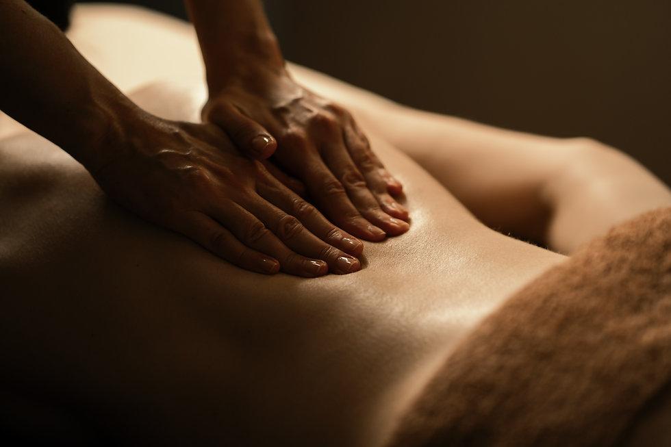 The beautiful girl has massage. Authenti
