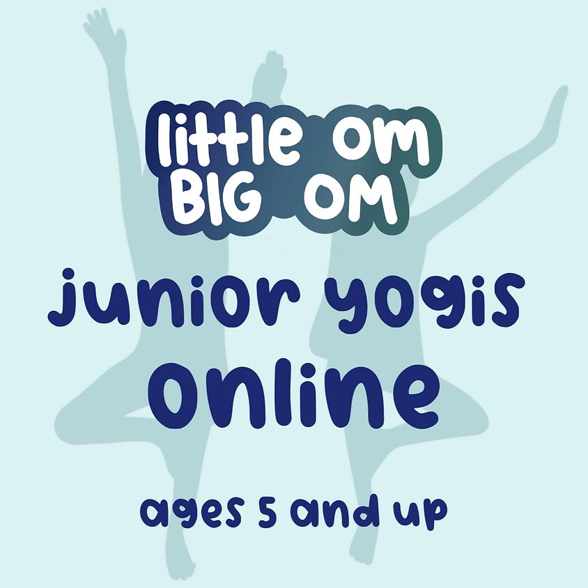 Junior Yogis Online Kids Yoga (ages 5+) - Wednesday 1:00 pm