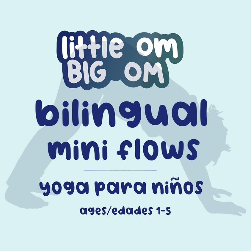 Bilingual Mini Flows/Yoga Para Niños (ages/edades 1-5) - Saturday, Apr 11th - 9:30 am